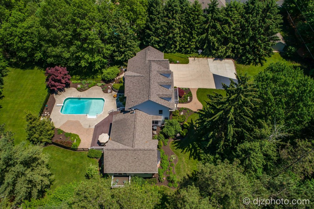 Aerial with a Pool