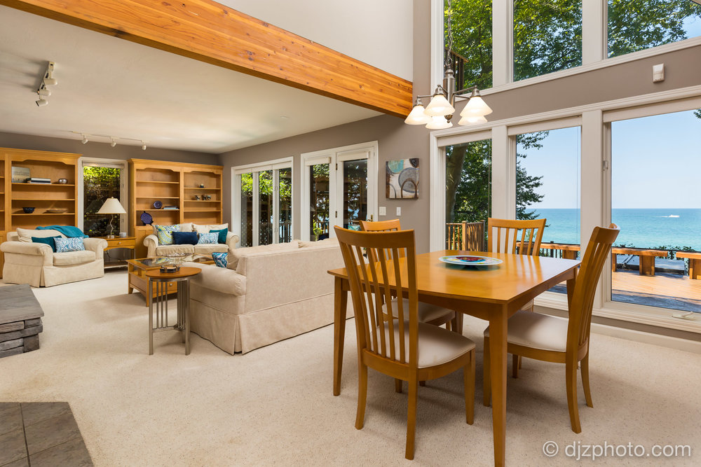 Dining Area with Lake Michigan Views