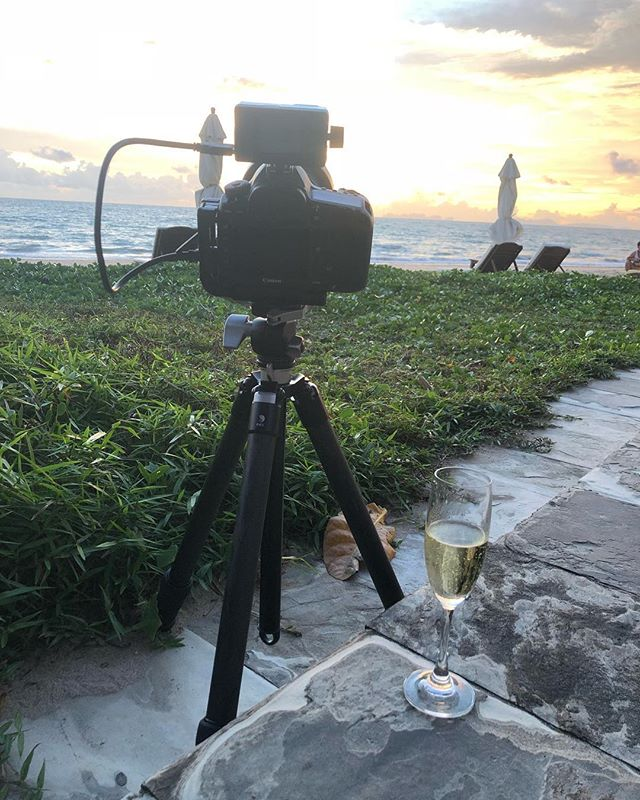 Last Day in Thailand doing what I love. #thialand #sunsetbeach #canon5dsr #champagne