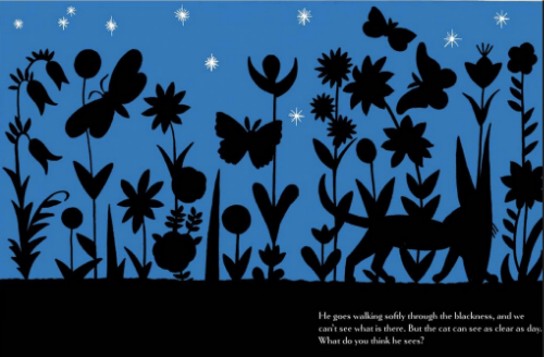 "Dahlov Ipcar's children's book ""The Cat at Night"" focuses on what you can't see rather than what you can."