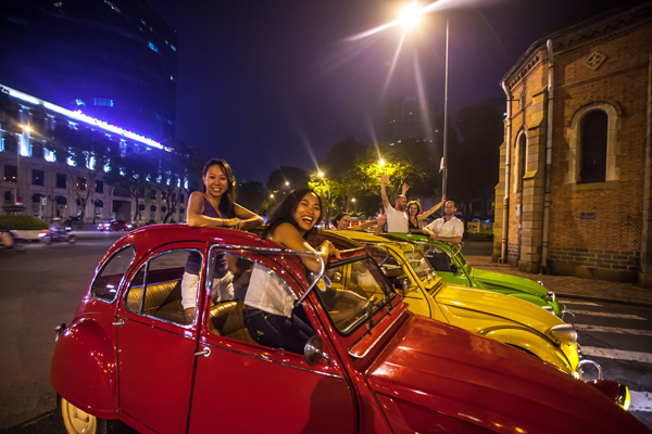 Treat yourself to a unique experience aboard an open top vintage car.