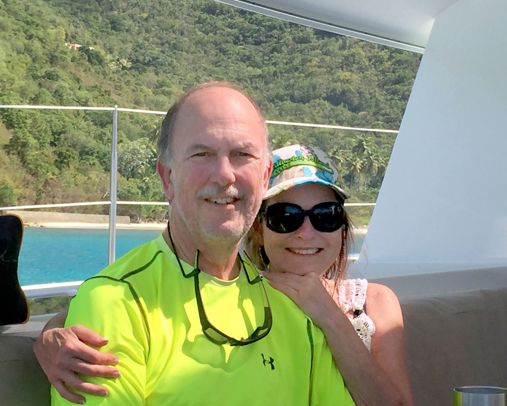 John & Nancy Davis British virgin islands, February 2017