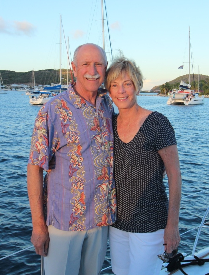 Covey & Kathy marina cay, bvi, january 2017