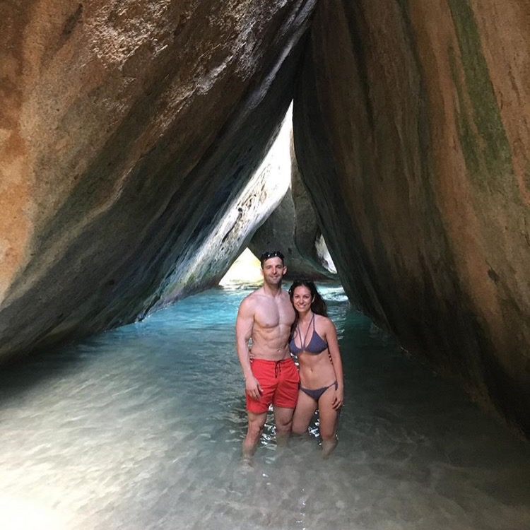 Alba & Stephen The baths, virgin gorda, march 2017