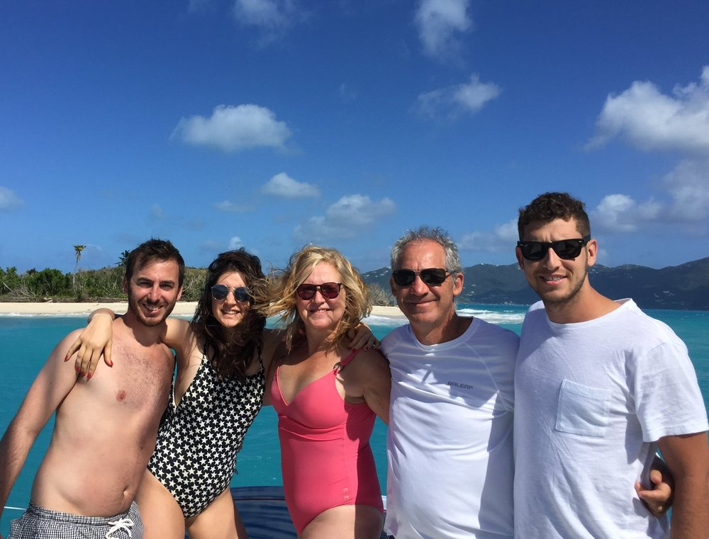 The Tuchin Family Sandy cay, BVI, february 2018