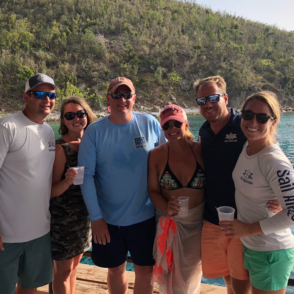 Chastain/Ballew charter GRAND RE-OPENING OF THE WILLY T PETER ISLAND, BVI, JUNE 2018