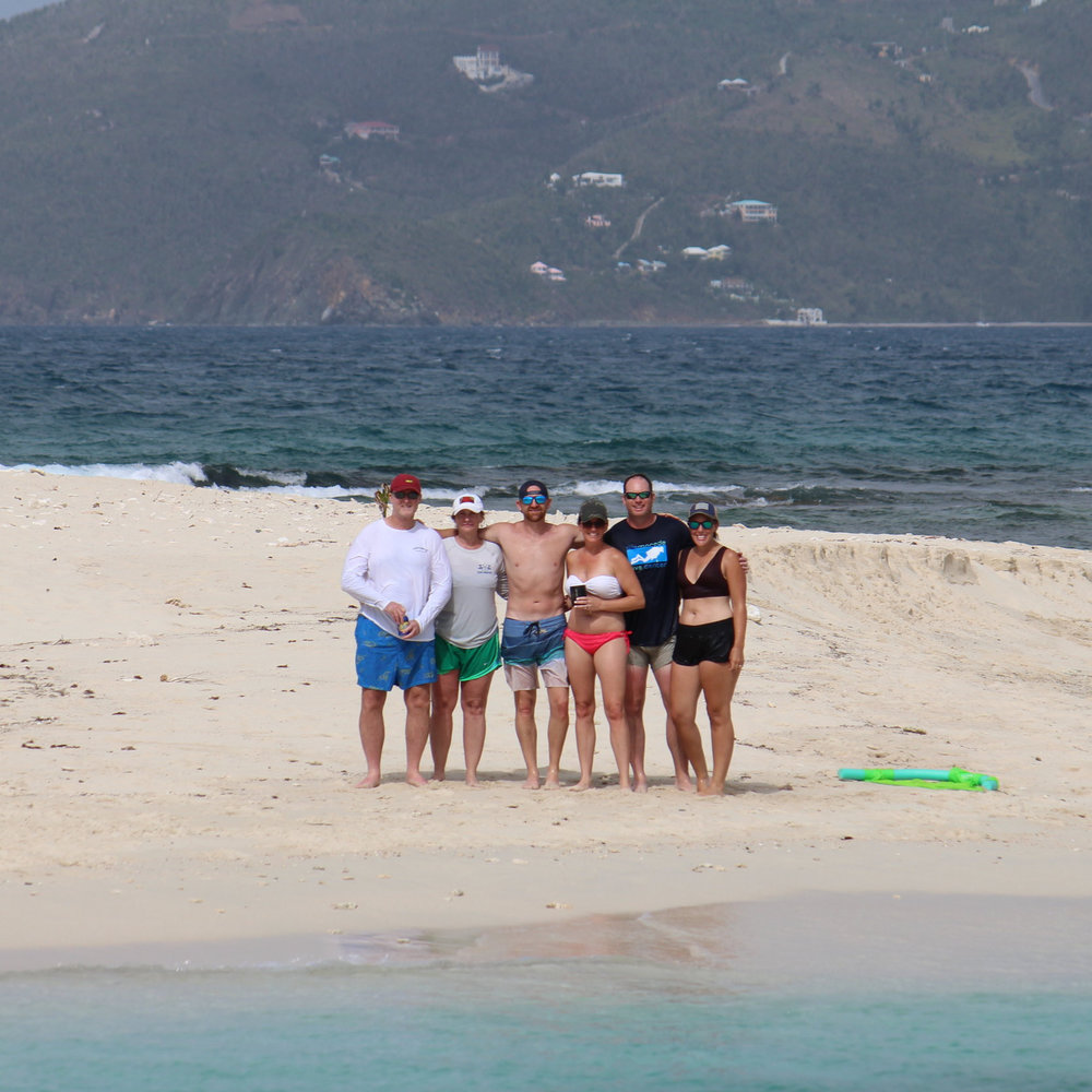 Carr/Greene charter Sandy spit, bVI, june 2018