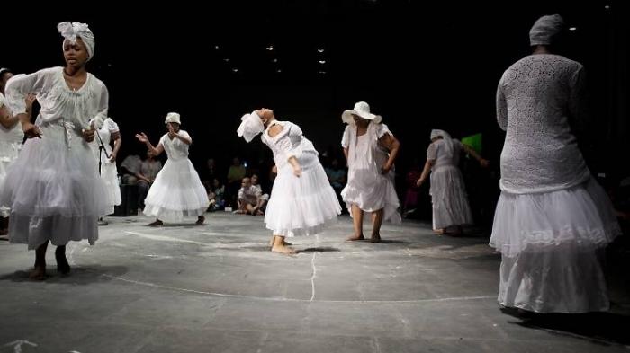 "Bumbray performing ""Run Mary Run"" at Whitney Museum of American Art, Whitney Biennial 2012, BLEED (Jason Moran & Alicia Hall Moran Residency) (2012)"