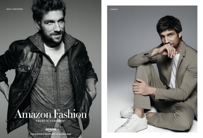 Amazon Fashion Men's 2016 editorial campaign in GQ magazine, feat. John Varvatos & Theory curated by Satchell.