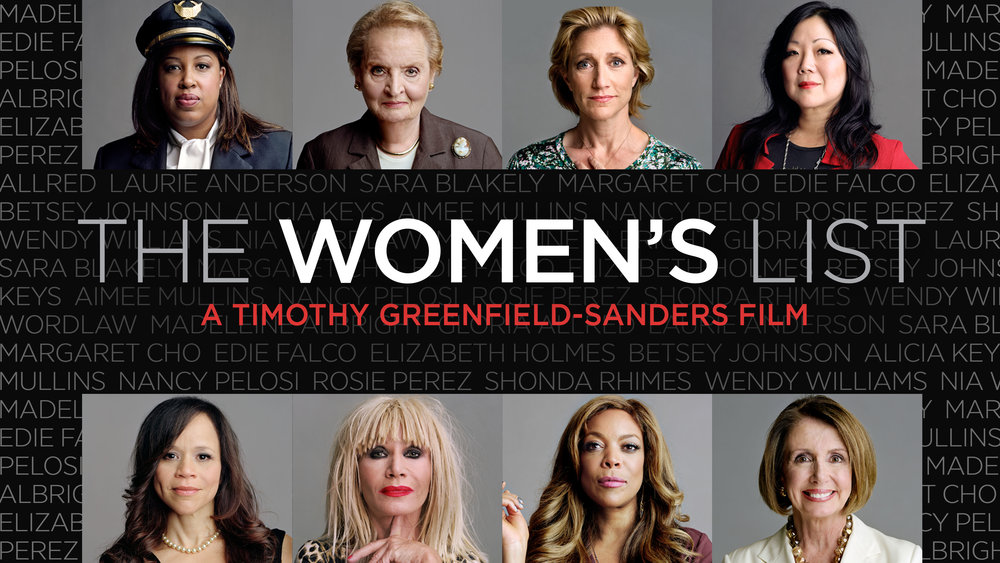 """Promo poster from """"The Women's List"""", Executive Produced by Kamilah Forbes in 2015."""