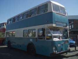 The original double decker, the Leyland Atlantean which serviced the route 30 years ago