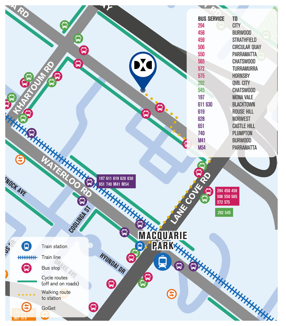 Fuji Xerox Transport Map