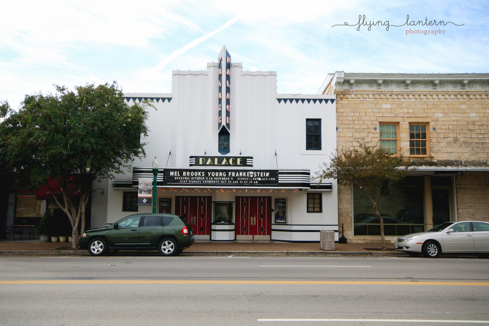 I love how there is a classic old movie theater. Since it was Halloween, Young Frankenstein was playing.