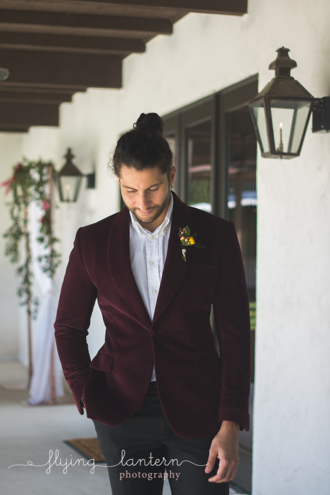 groom looking down