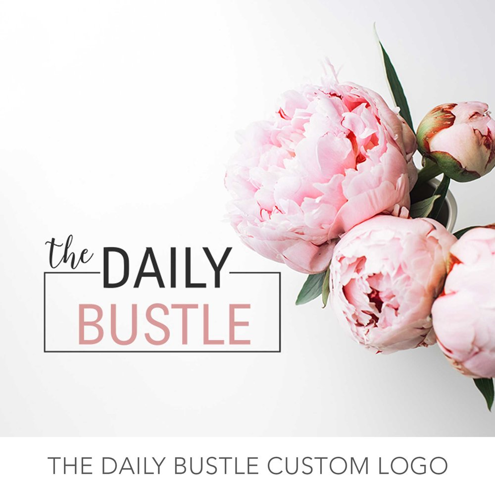 the daily bustle custom logo design