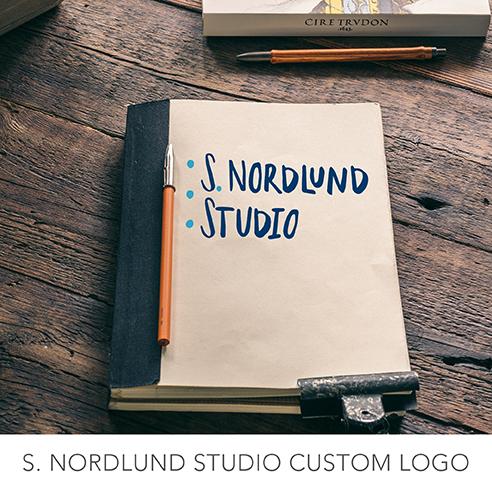 S. Nordlund studio custom logo