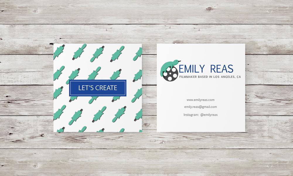 Emily Reas business cards design