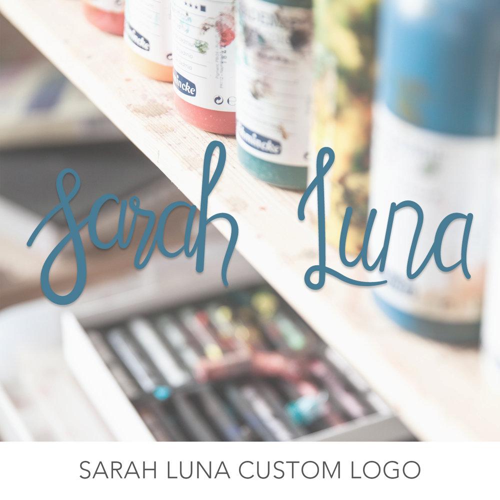 Sarah Luna Custom Logo