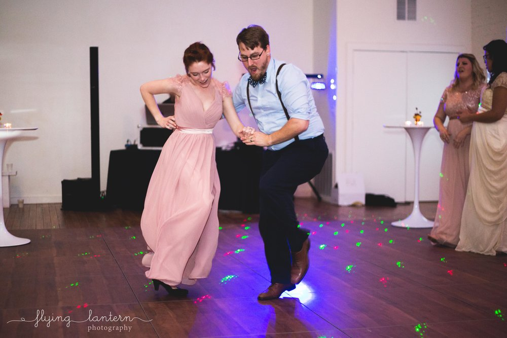 wedding reception dancing at one eleven east in austin texas by erin reas of flying lantern photography