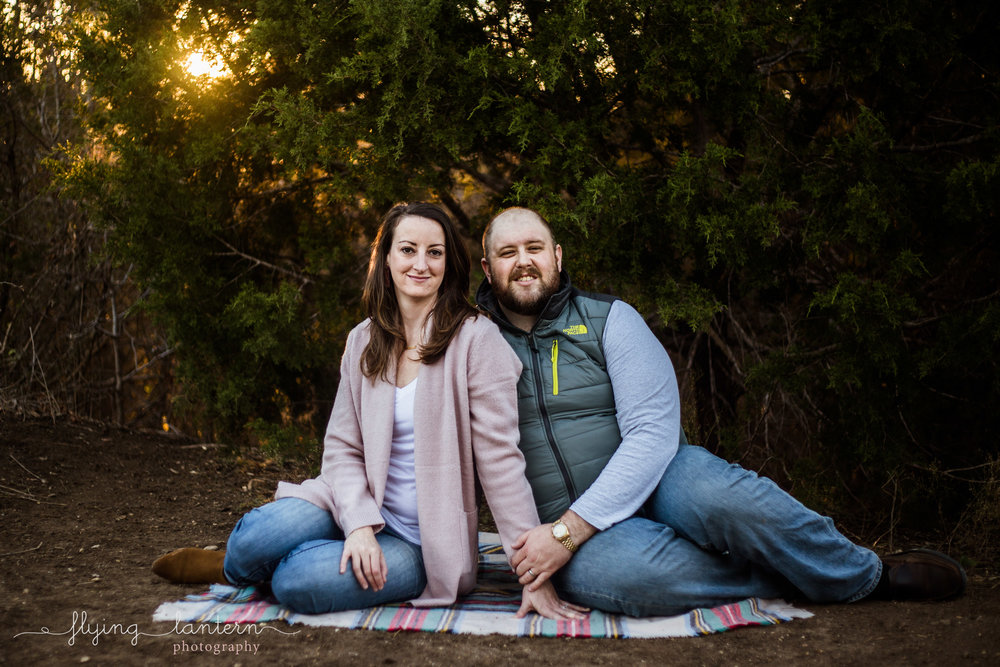 couple holiday portrait at walnut creek in austin, Texas by erin Reas of Flying Lantern Photography