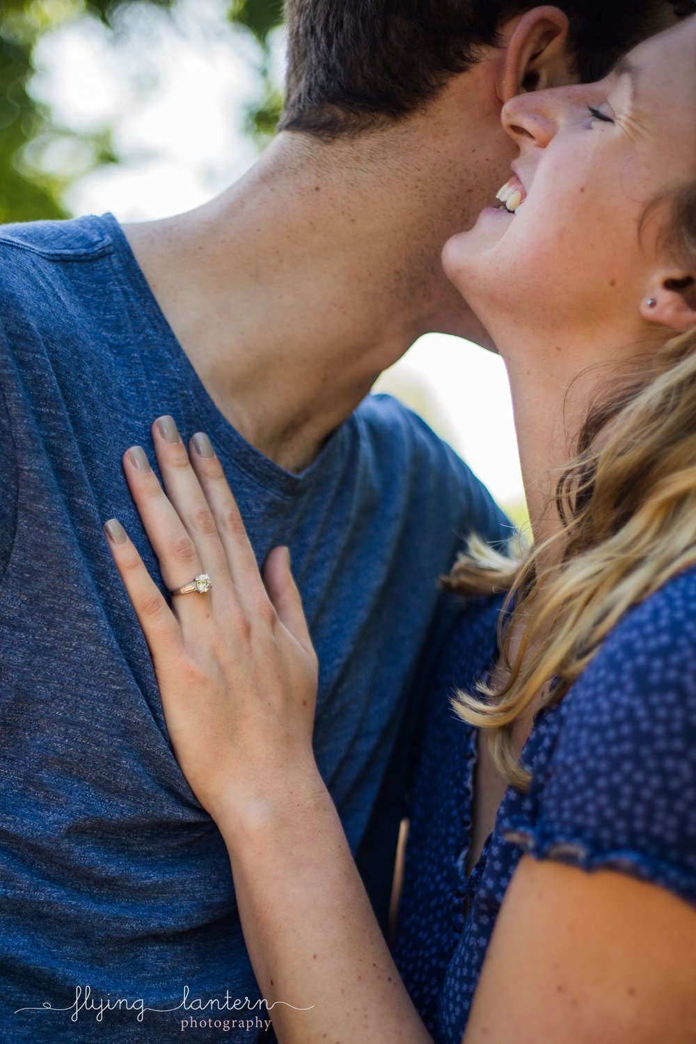 couple engagement portrait at lady bird lake trail in austin, Texas by erin Reas of Flying Lantern Photography