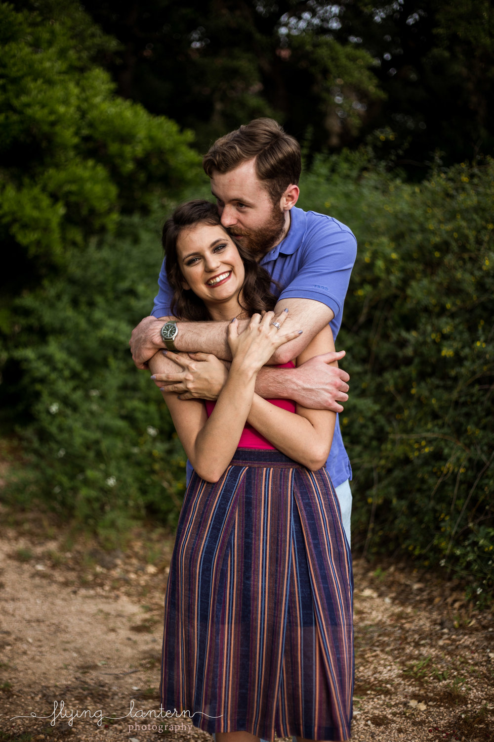 couple engagement portrait at st. edward's university in austin, Texas by erin Reas of Flying Lantern Photography