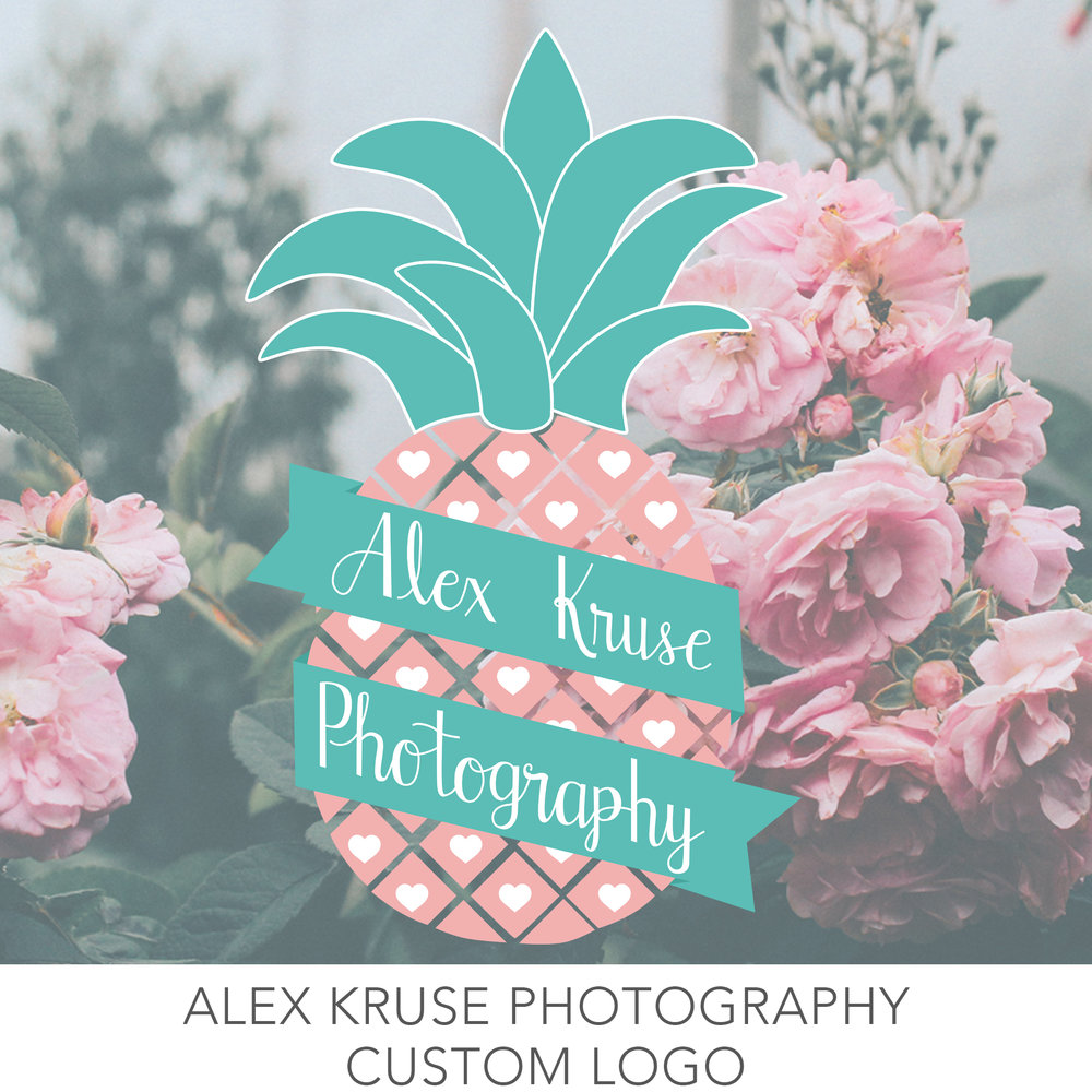 Alex Kruse photography based in seattle washington logo work created by Erin Reas graphic designer and hand letterer based in austin texas