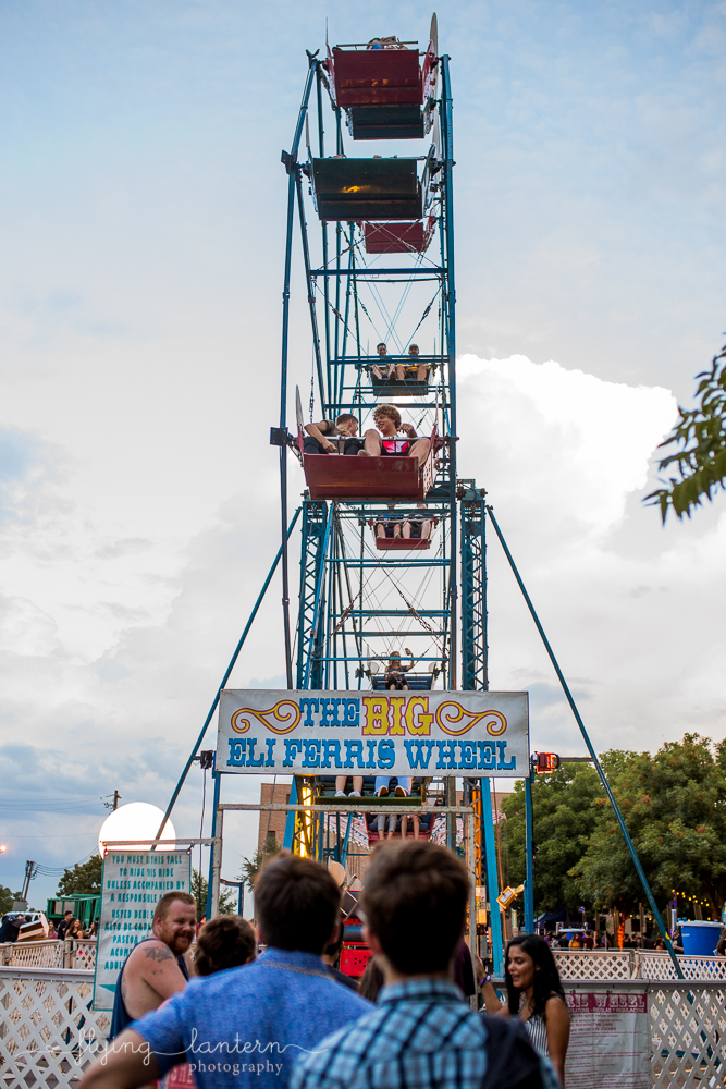St. Edward's University Hillfest Ferris Wheel. Event Photography by Erin Reas of Flying Lantern Photography in Austin, TX