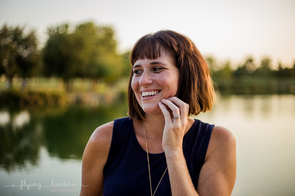Austin blogger at mueller lake park lifestyle headhot photography by Erin Reas of Flying Lantern Photography