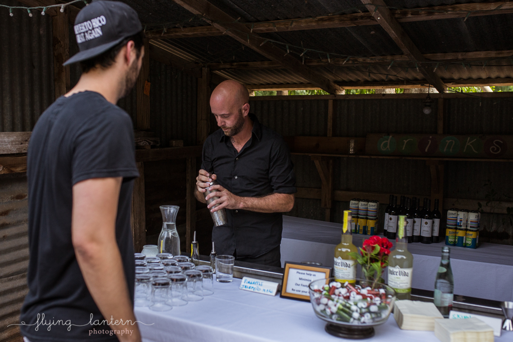 Bartender at Eden East for Wander/Gather event in Austin, TX. Photo by Erin Reas of Flying Lantern Photography