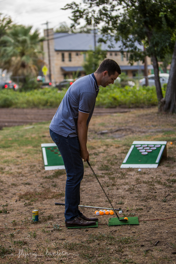 Guest attending Wander/Gather event at Eden East playing mini golf. Photo by Erin Reas of Flying Lantern Photography