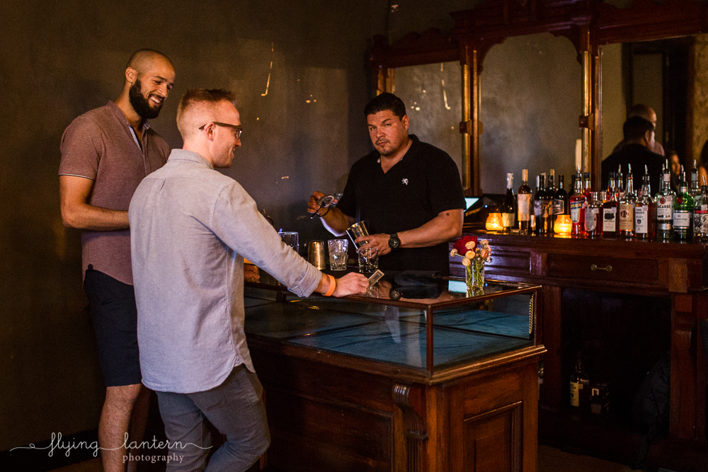 Bartender at Native Hostel. Photo by Erin Reas of Flying Lantern Photography