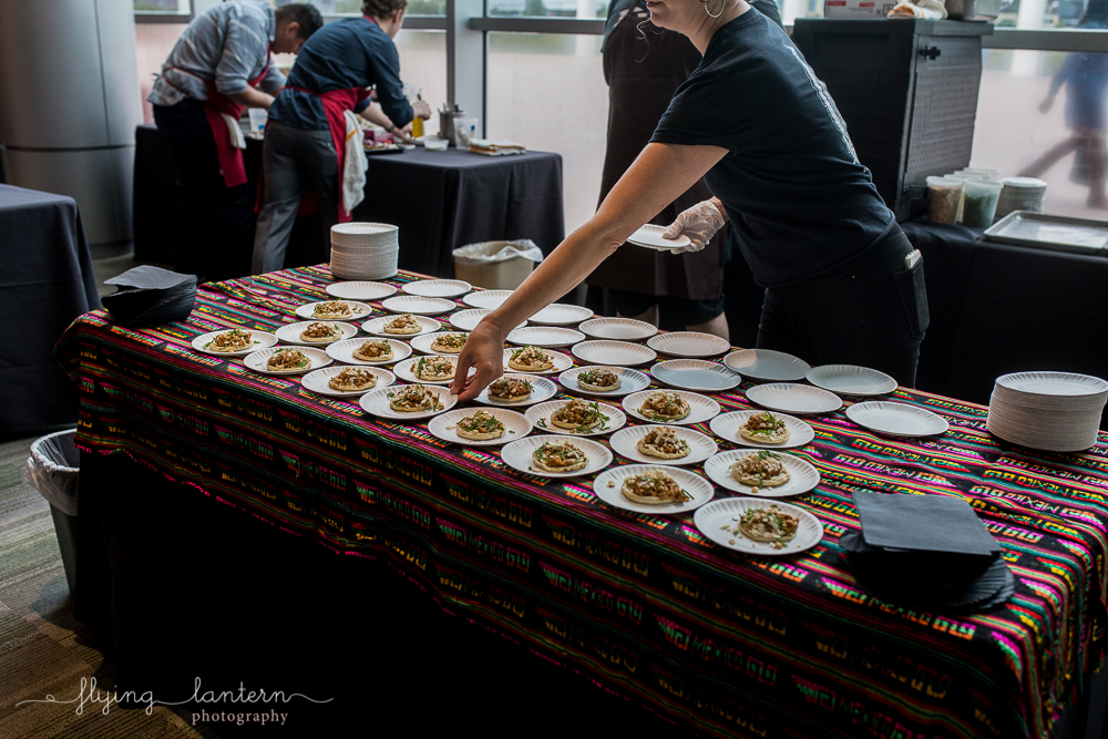 Plating food at Authentic Mexico Galas. Event photography by Erin Reas of Flying Lantern Photography