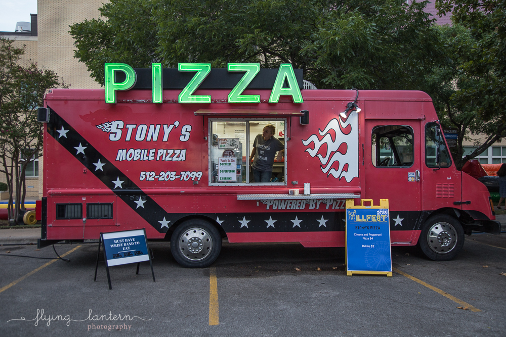 Stony's mobile pizza at Hillfest 2018 on St. Edward's University campus. Event photography by Erin Reas of Flying Lantern Photography