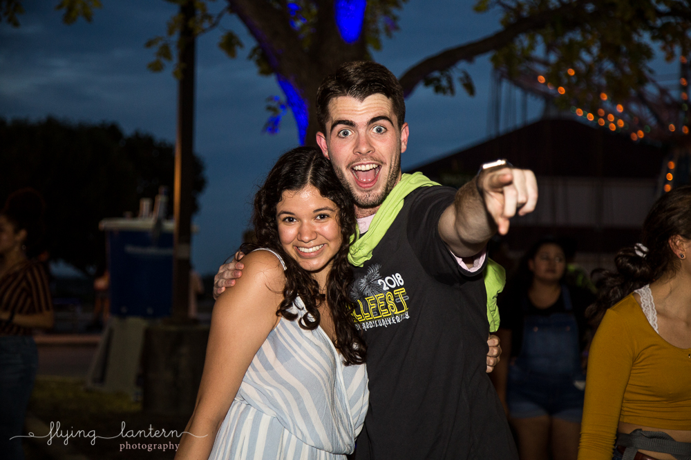 Excited students at Hillfest 2018 on St. Edward's University campus. Event photography by Erin Reas of Flying Lantern Photography