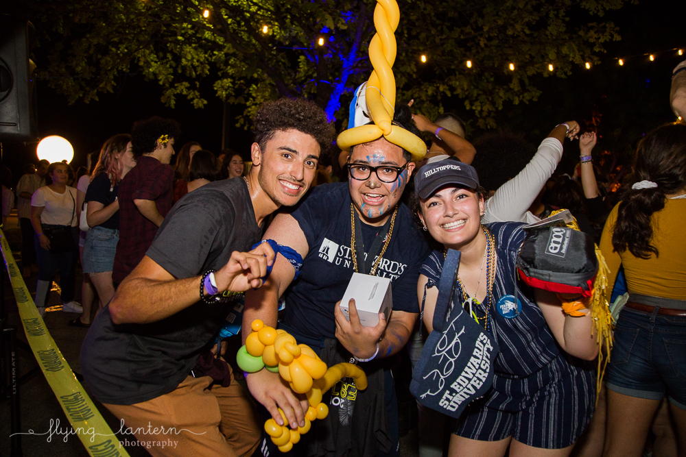 Spirit wear winner at Hillfest 2018 on St. Edward's University campus. Event photography by Erin Reas of Flying Lantern Photography