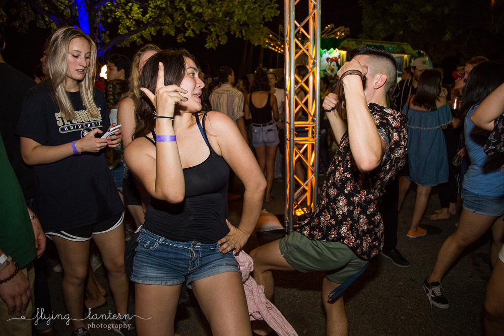 Students dancing at Hillfest 2018 on St. Edward's University campus. Event photography by Erin Reas of Flying Lantern Photography