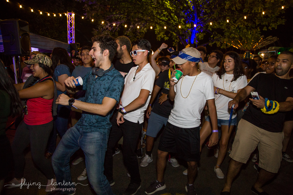 Students doing the Wobble at Hillfest 2018 on St. Edward's University campus. Event photography by Erin Reas of Flying Lantern Photography