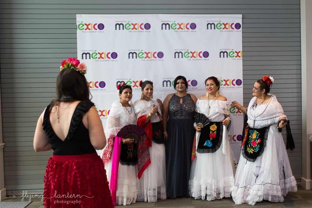 costumed women at authentic mexico gala. event photography by erin reas of flying lantern photography