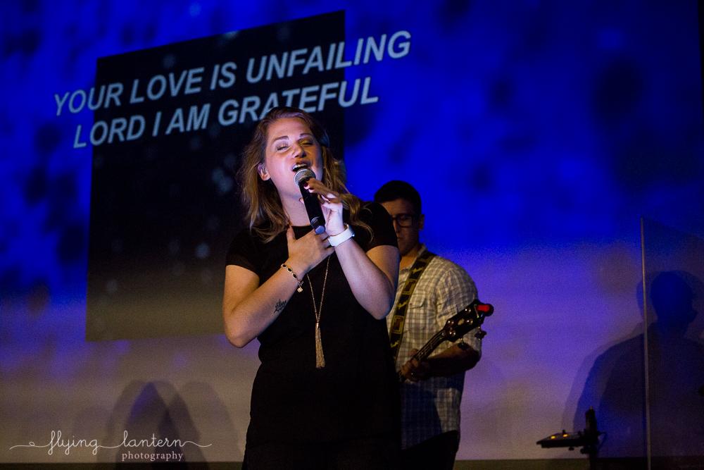 worship team for awaken church launch. event photography by erin reas of flying lantern photography