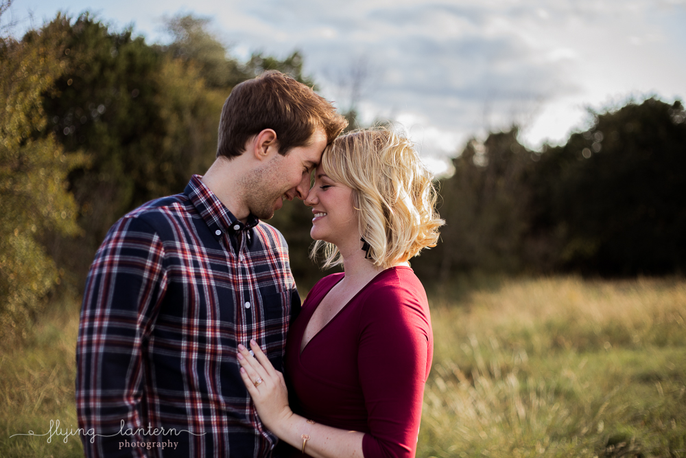 sweet couples portrait for holiday session. photo by erin reas of flying lantern photography in austin, tx
