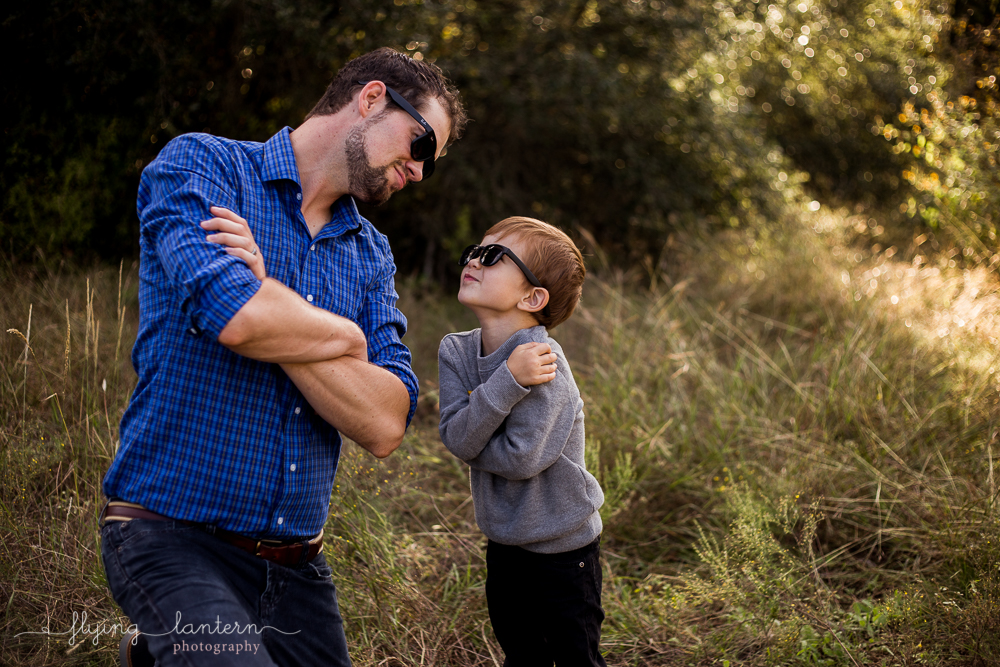 silly father and son photo during family portrait session. photo by erin reas of flying lantern photography based in austin, tx.