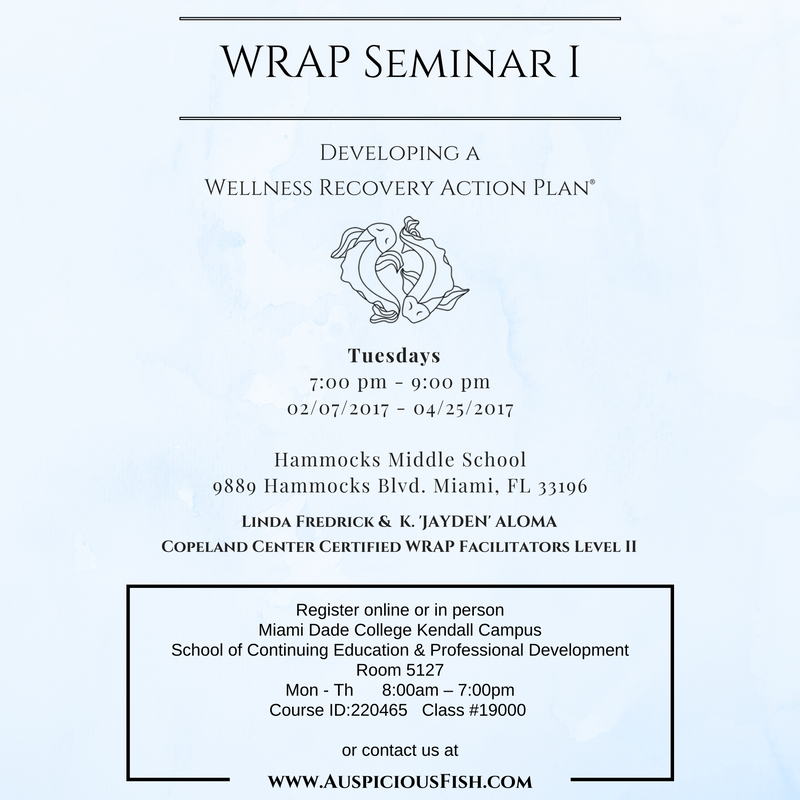 wellness recovery action plan wrap seminar i auspicious fish