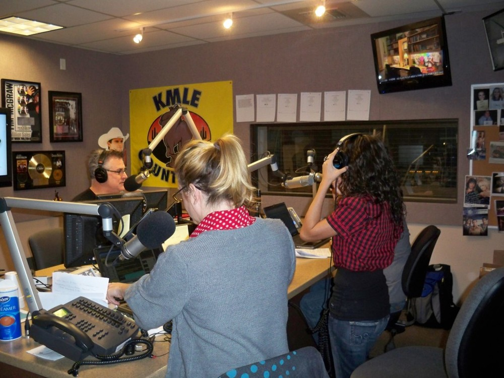 In the KMLE studio with Tim & Willy