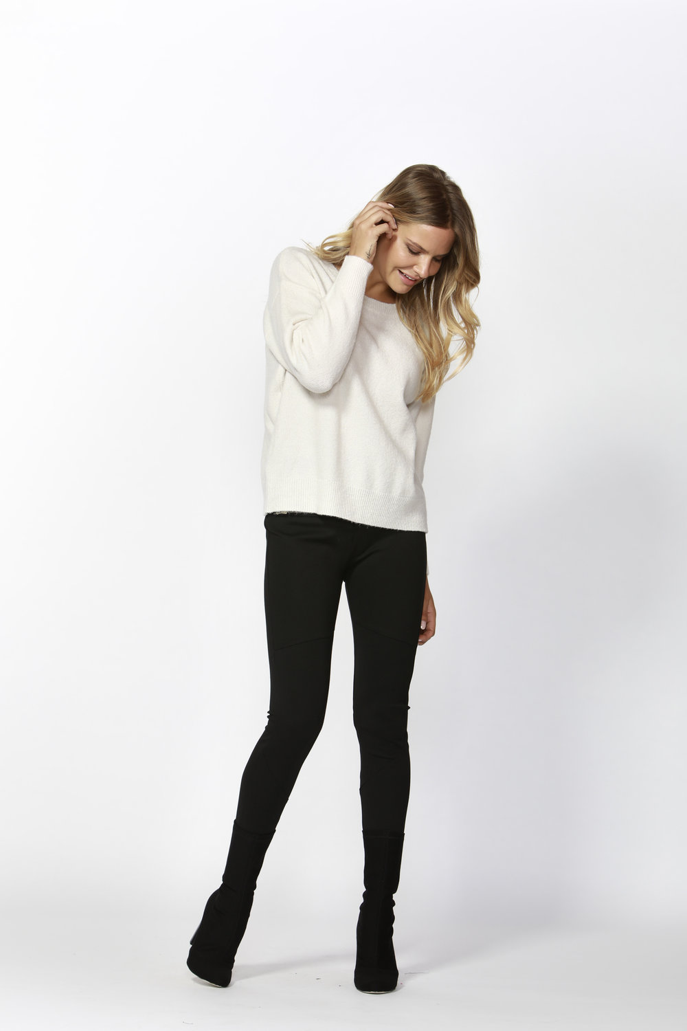 Snuggly Winter Knit (Coconut)  - $59.90