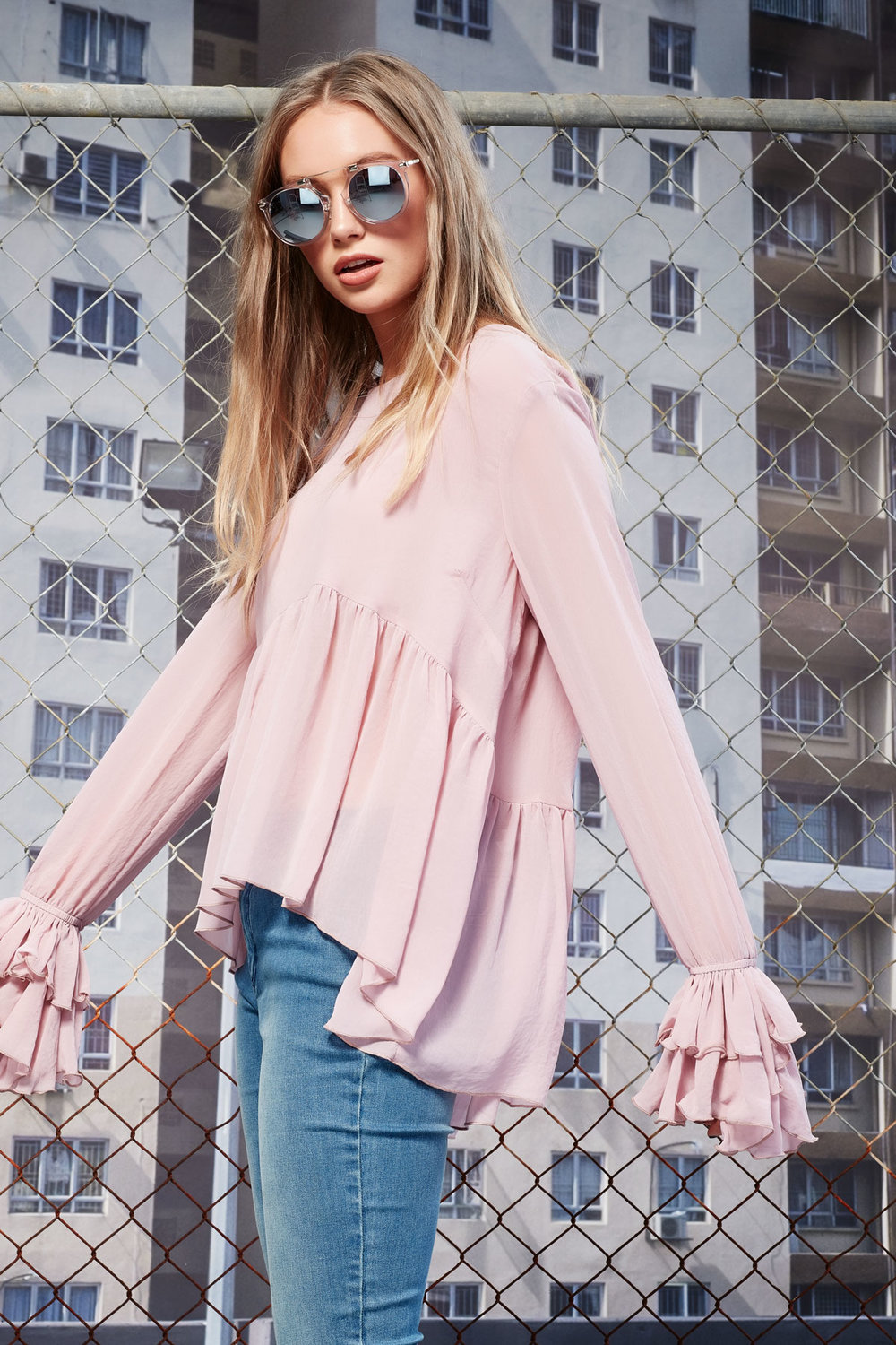 All You Can Pleat Top (Pink)  - $199.90