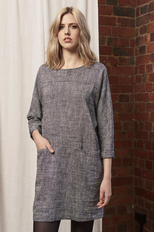 Hahn Dress (Salt & Pepper) - $219.90
