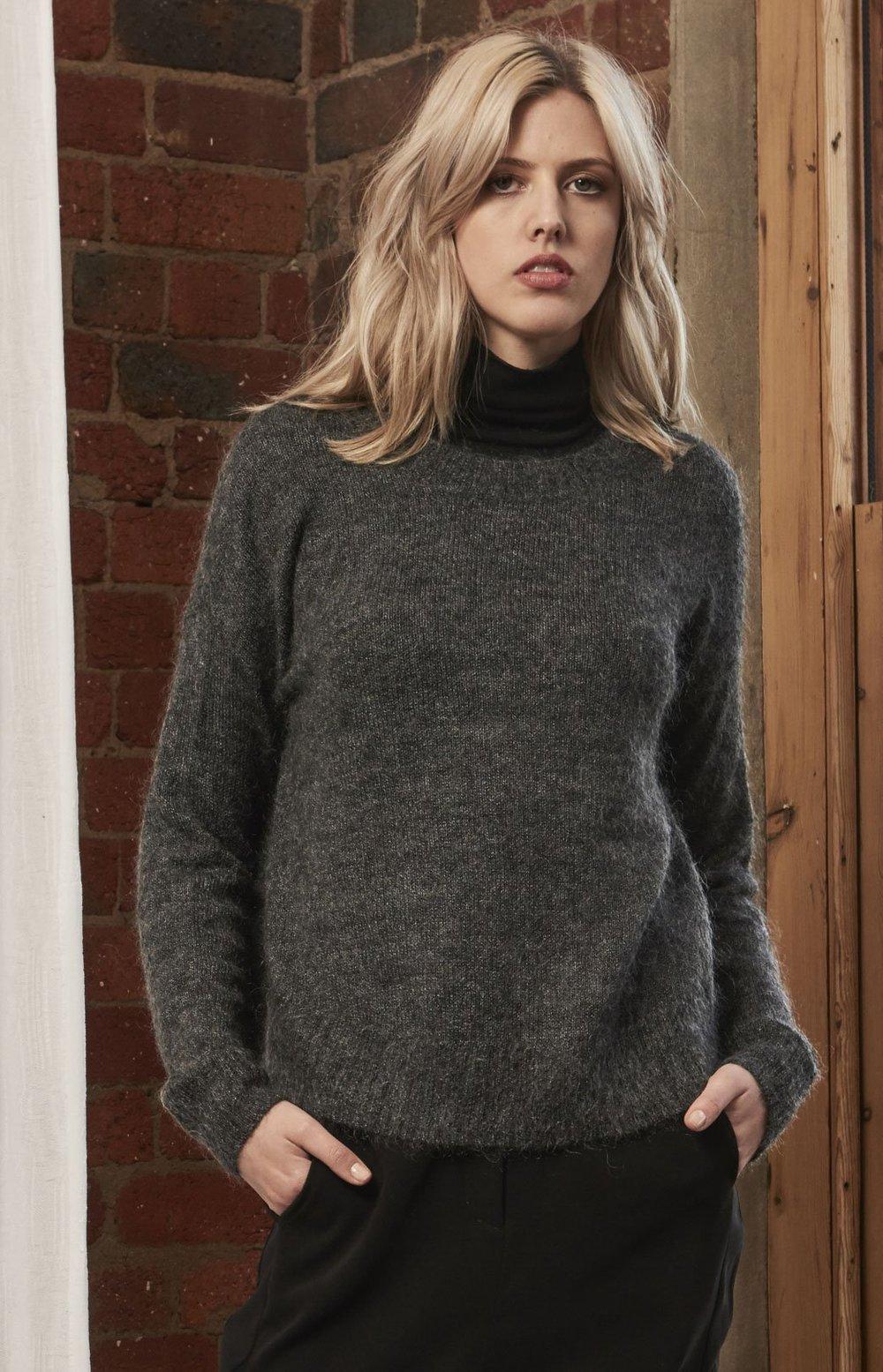 Voskan Knit Sweater (Grey Marl) -  $219.90