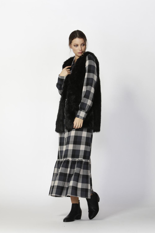 Yorkville Fur Vest (Black)  - $145