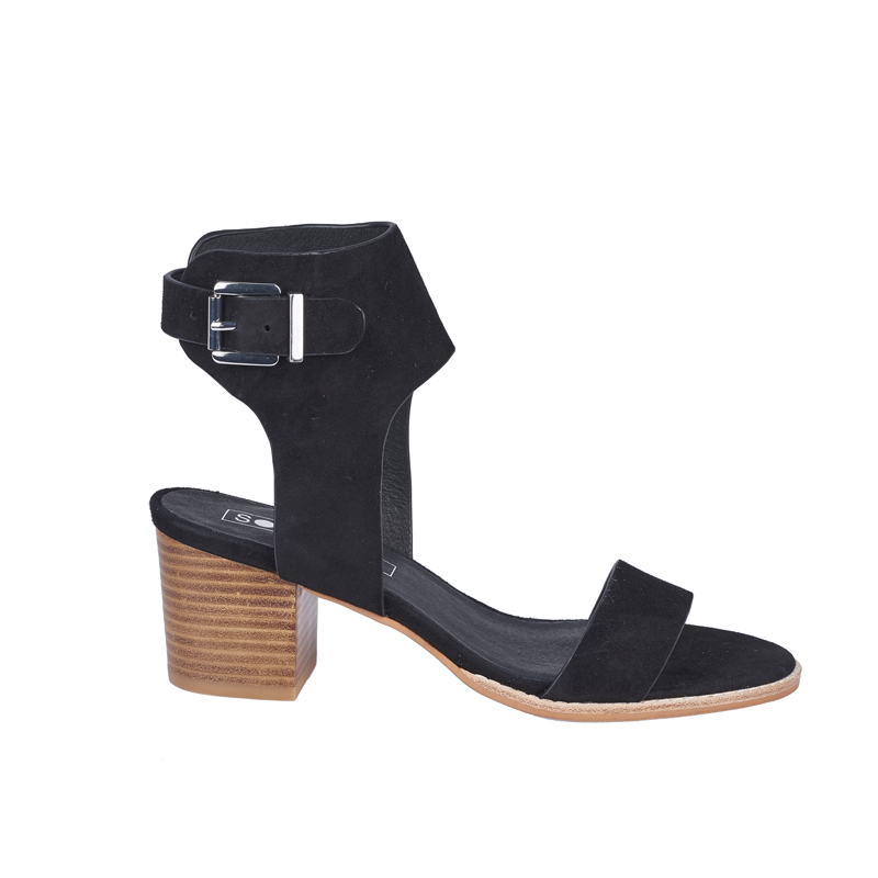 Sol Sana  - Bev Suede Heel (Black)  Was $239.90 > Now  $125       Sizes Available:  x1  37  x1  38